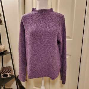 Eileen Fisher Cashmere Wool Funnel Neck Sweater M